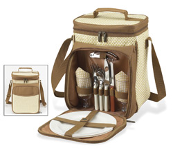 A picnic backpack collection for two.
